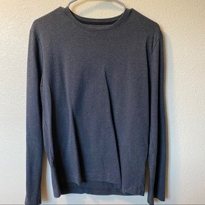 Grey Charcoal Long Sleeve Lightweight Sweater